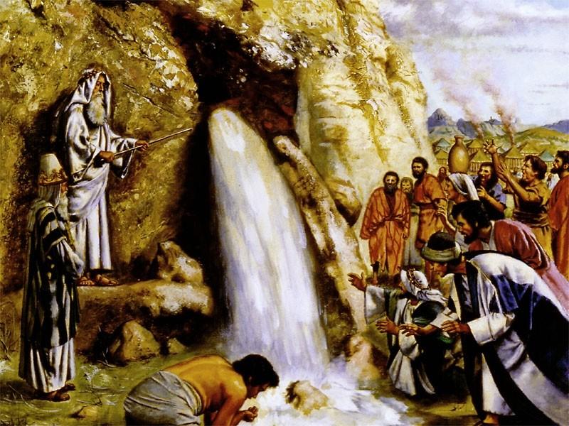 Моисей у скалы