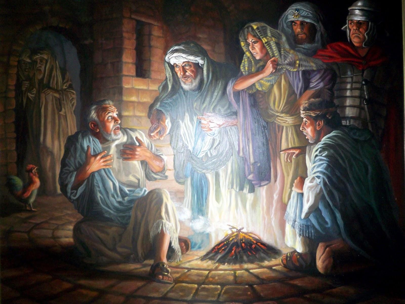 библейские картинки отречение петра