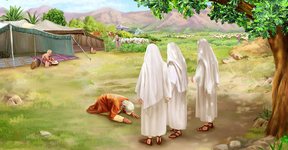 Лот праведник и Авраам; Ангелы