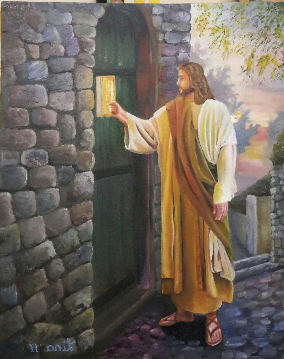 Стою у двери и стучу