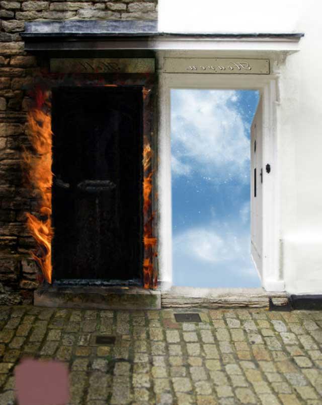 Тесные врата и дверь
