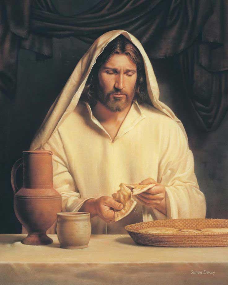 Иисус преломляет хлеб