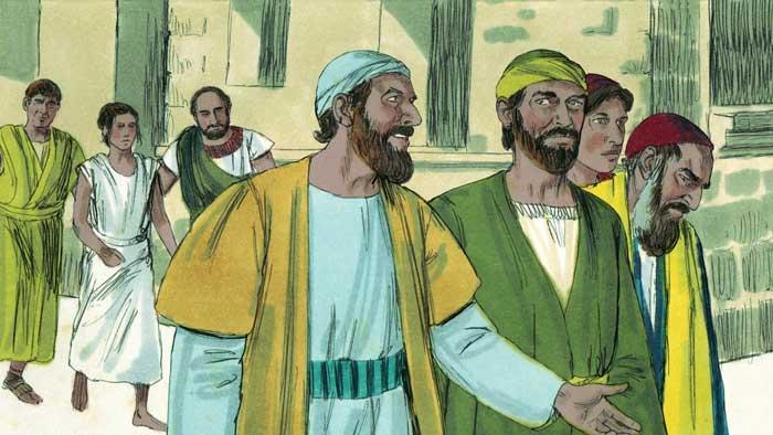 Павел и Сила проповедуют