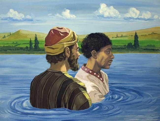 Филипп крестит евнуха