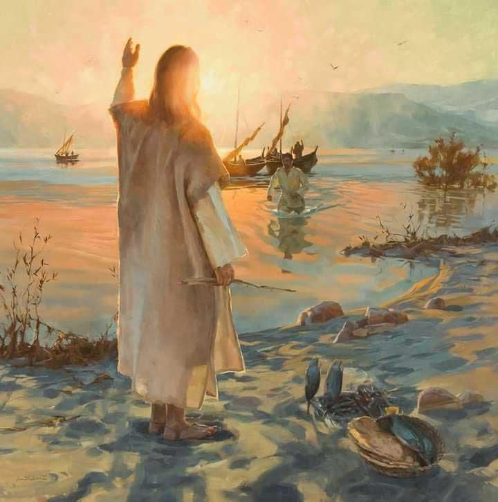 Христос воскресший и Пётр