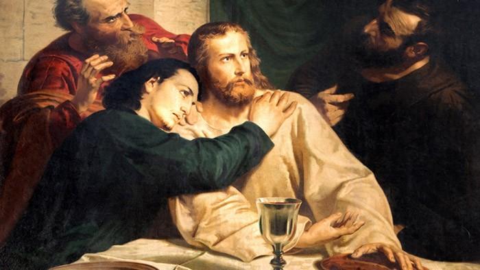 Иоанн у груди Иисуса