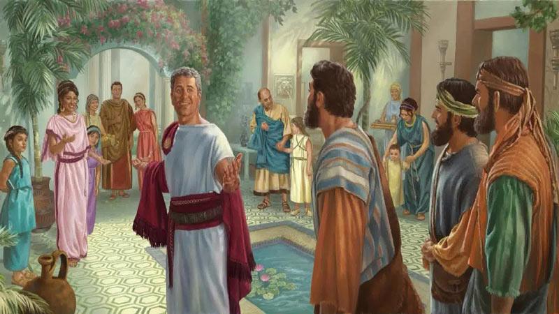 Пётр проповедует в доме Корнилия