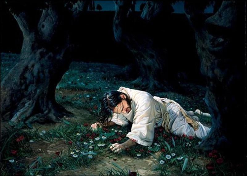 Иисус перед казнью в Гефсиманском саду